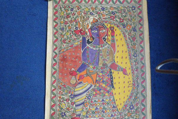 Shiva Ardanarishvara Madhubani Malerei - Asiatica Foth