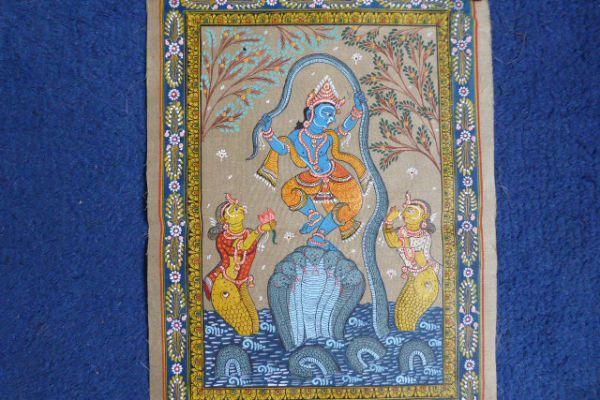 Krishna Malerei aus Orissa - Asiatica Foth