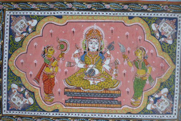 Lakshmi Malerei aus Orissa - Asiatica Foth