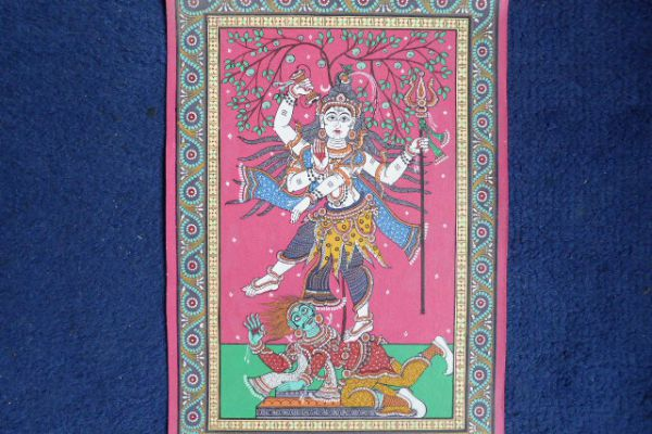 Shiva Malerei aus Orissa - Asiatica Foth