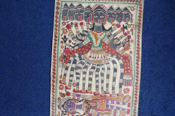 Kali Madhubani Malerei - Asiatica Foth