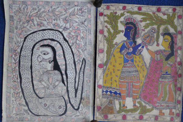 Nagini Madhubani Malerei - Asiatica Foth