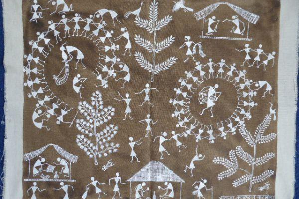 Warli Malerei - Asiatica Foth