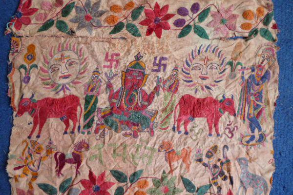 Ganesha Banjara Stickerei Rajasthan - Asiatica Foth